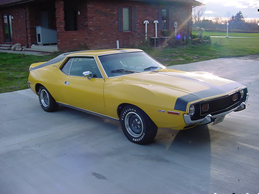 1973 Amc Javelin Yellow W Black Stripe 401 V8 4 Speed Engine pictureYellow Javelin Car