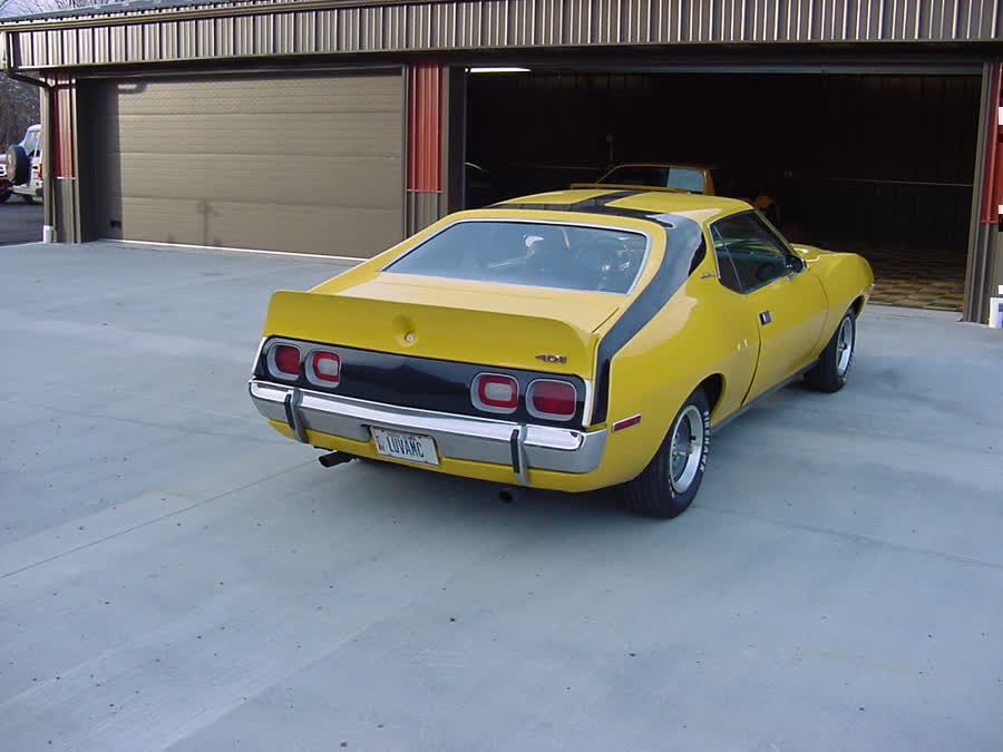 Amc Javelin Yellow Black Stripe Speed Engine WallpaperYellow Javelin Car